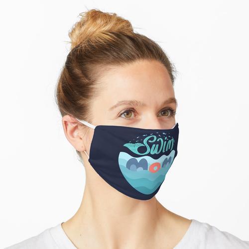 Schwimmen Mama schwimmen Maske