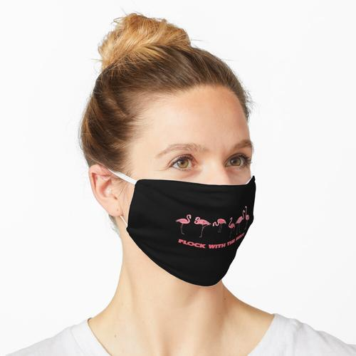 Herde mit den besten Flamingos Maske