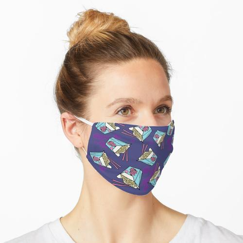 Nudeln Chinesische Nudeln zum Mitnehmen Maske