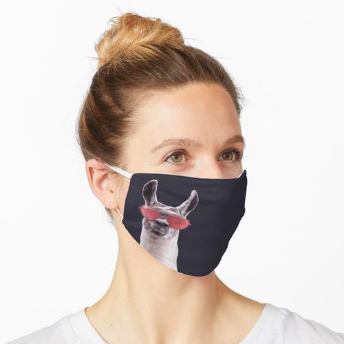 Cooles Lama mit Brille Maske