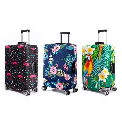Housse de valise Periea : Flamants tropicaux / 45-50 cm