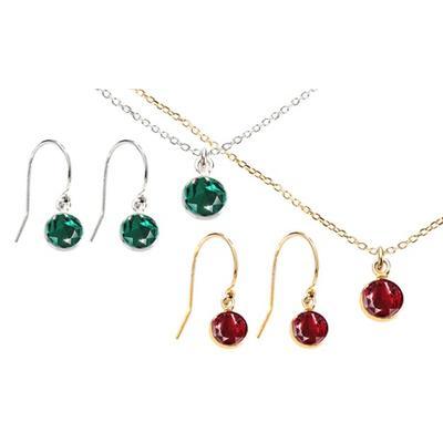 Parures en argent cristaux Swarovski® : Collier / Améthyste / Argent