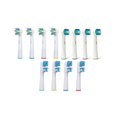 Ersatz-Zahnbürstenköpfe: Floss / 4er-Pack
