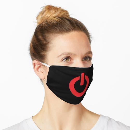 Einschaltknopf (rot) Maske