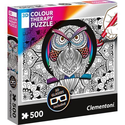 3D Puzzle Eule 500 Teile, bunt