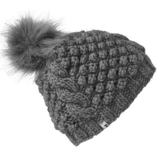 Mütze mit Bommel, grau, Gr. 57/59