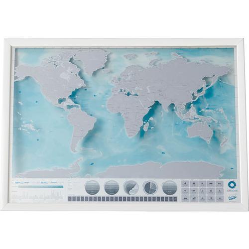 Rubbelkarte Welt, blau