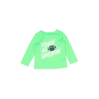 Carter's Active T-Shirt: Green Solid Sporting & Activewear - Size 12 Month