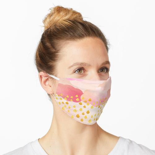 Roségold-Regenduschen Maske