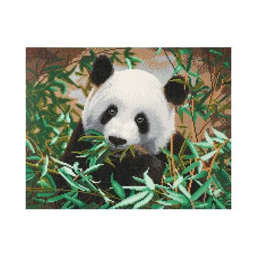 Bastelsets Panda Kit gerahmte Kristallkunst grün/weiß Kinder