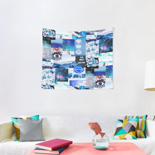 Blue Vibes Wall Tapestry