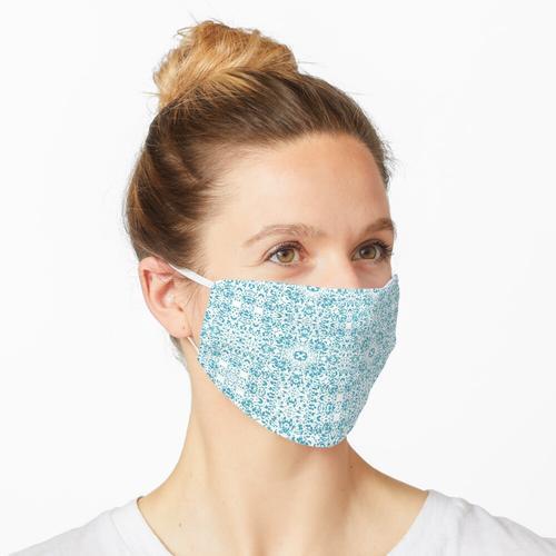 Blue Pixel Häkelanleitung Maske