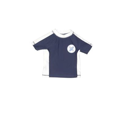 Circo Rash Guard: Blue Solid Sporting & Activewear - Size 6-9 Month