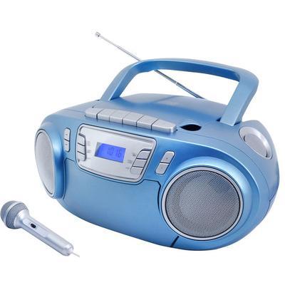 CD-Boombox mit Discolicht + Mikr...