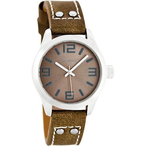 Armbanduhr Oozoo mit Lederarmband, braun