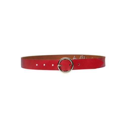 AnnaMatoni Ledergürtel, Leicht genarbte Oberflächenstruktur rot Damen Ledergürtel Gürtel Accessoires