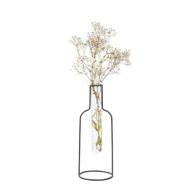 Balvi Gifts - Bottle Silhouette Vase Black Color Decorative Vase XL - black - Black/Black