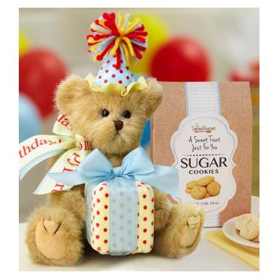 Bearington® Happy Birthday Bear with Cookies Birthday Bear with Cookies by 1-800 Flowers