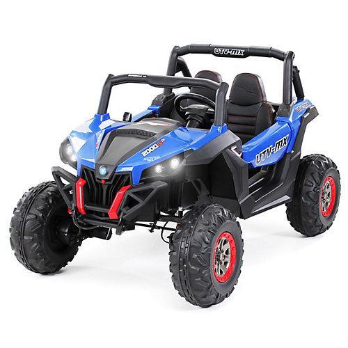 Kinder Elektroauto UTV Buggy MX blau-kombi