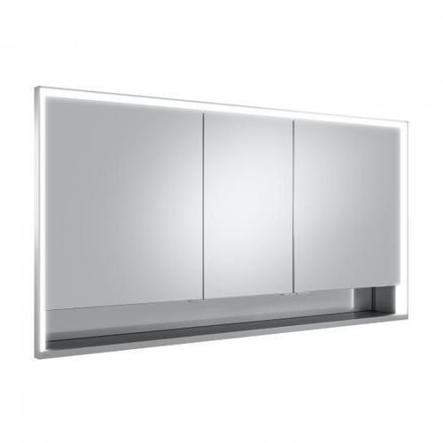 Keuco Royal Lumos Unterputz-Spiegelschrank mit LED-Beleuchtung B: 140 H: 73,5 T: 16,5 cm 14316171301, EEK: A+