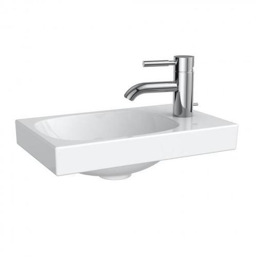 Geberit Acanto Handwaschbecken B: 40 T: 25 cm, asymmetrisch weiß 500635012