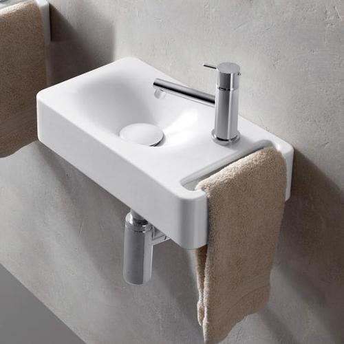 Scarabeo Hung Hängewaschbecken B: 40 T: 22 cm weiß, mit BIO System Beschichtung 1513BK