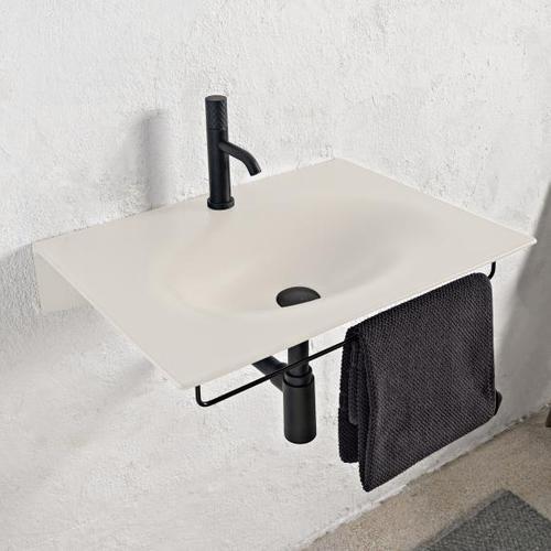 Scarabeo Veil Waschbecken B: 60,5 T: 46 cm weiß matt, mit BIO System Beschichtung 610241BK