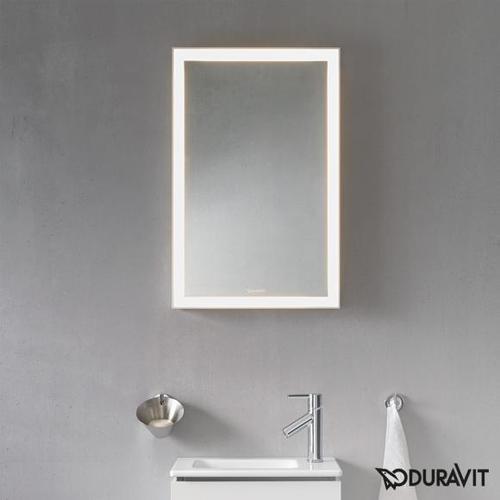 Duravit L-Cube Spiegel mit LED Beleuchtung B: 45 H: 70 cm ohne Spiegelheizung LC737900000, EEK: A+