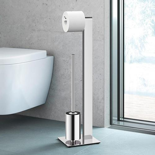 Zack ATORE Toiletten-Butler B: 180 H: 726 T: 200 mm edelstahl poliert 40455