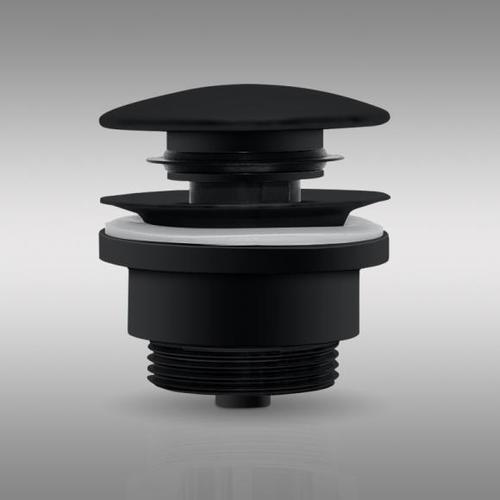 PREMIUM Universal Ablaufventil mit Staufunktion schwarz matt PR1087