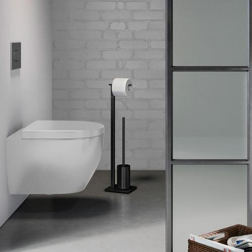 Zack CARVO Toilettenbuttler B: 150 H: 718 T: 180 mm schwarz 40508