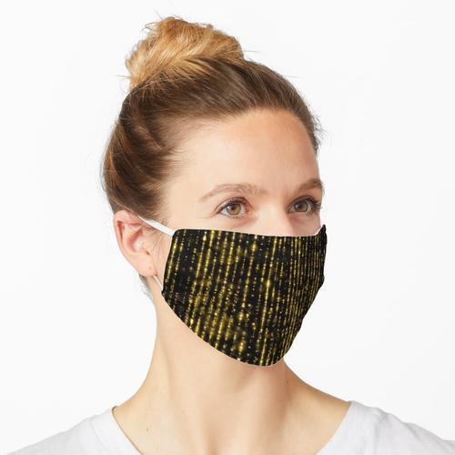 Black & Glam Gold Drapierende Perlen Maske