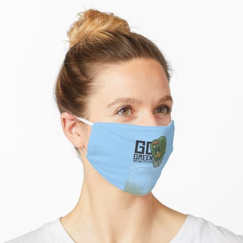 Go green, Naturschutz, Umweltschutz Maske