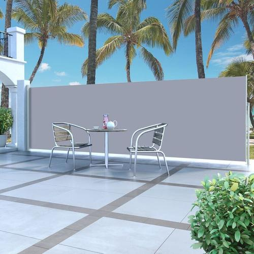 YOUTHUP Ausziehbare Seitenmarkise 160 x 500 cm Grau