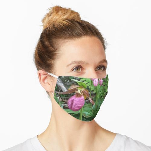 Rosa Hausschuhe Maske