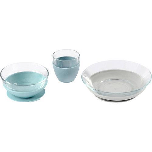 Geschirr Geschenkset, Glas, Jungle blau