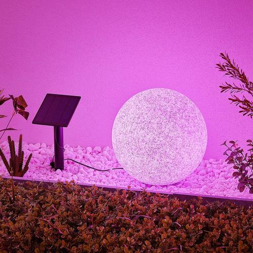 Lindby Hamela LED-Solar-Dekoleuchte, RGB, 30 cm