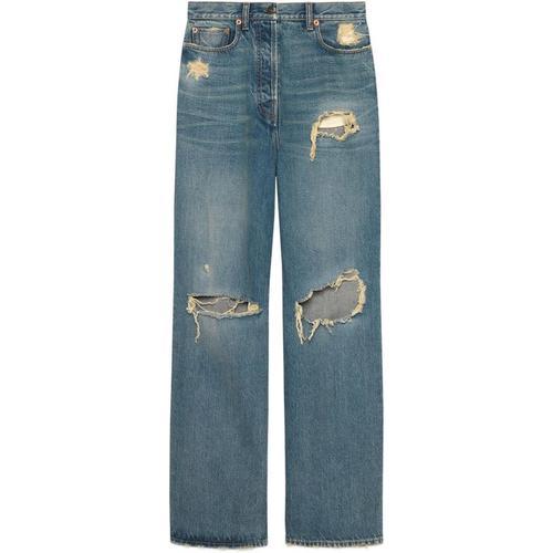 Gucci Ripped Jeans aus Bio-Denim mit ökologischer Waschung