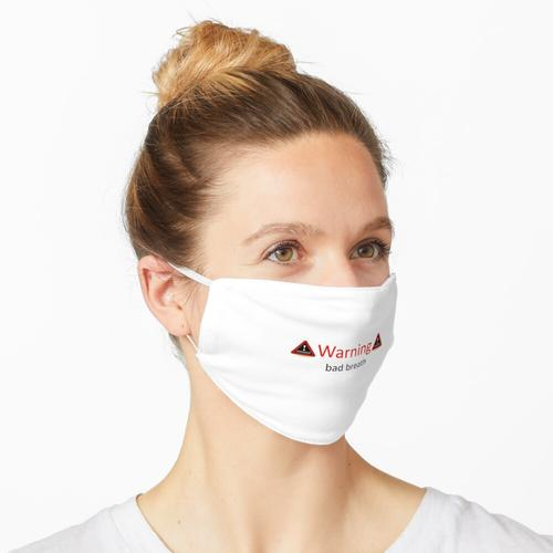 Warnung Mundgeruch Maske