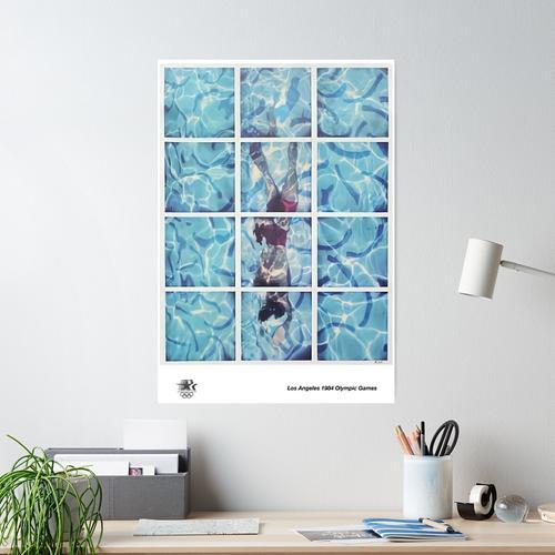 David Hockney Olympische Olympischen Spiele 1984 Poster