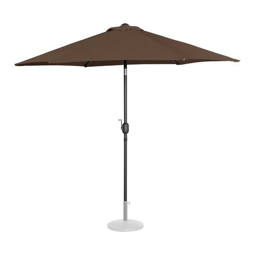 Uniprodo Sonnenschirm groß - braun - sechseckig - Ø 270 cm - neigbar