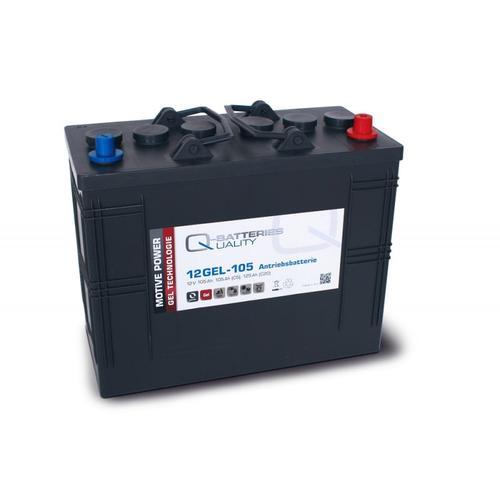 Quality-Batteries 12GEL-105 Antriebsbatterie 12 Volt 105 Ah (5h), 120 AH (20h) / Blei-Gel-Akku