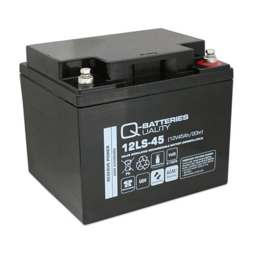 Q-Batteries 12LS-45 12V 45Ah Blei-Vlies-Akku / AGM VRLA mit VdS