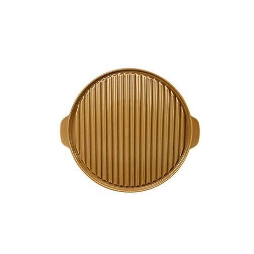 CreaTable, 20318, Serie GRILL braun, Geschirrset Grillplatte rund
