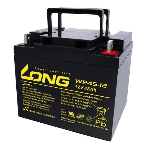 2x Kung Long Akku 12V 45Ah Pb Batterie Bleigel WP45-12 VDS