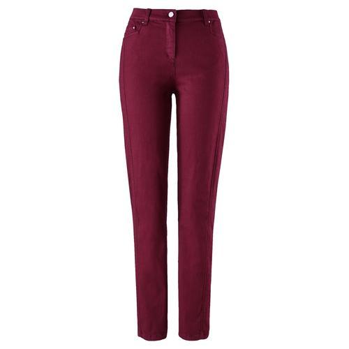 Avena Damen Jeans-Hose Rot einfarbig