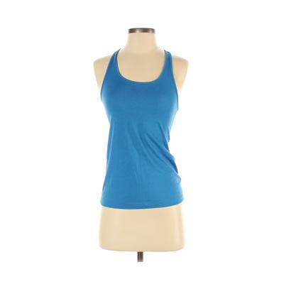 Nike Active Tank Top: Blue Solid Activewear - Size X-Small