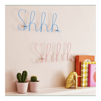 Bombay Duck - Shhh Wire Word - Baby Pink