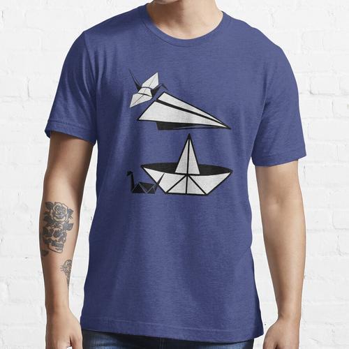ORIGAMI Papierflugzeug Papier Ente und Papierkran Essential T-Shirt