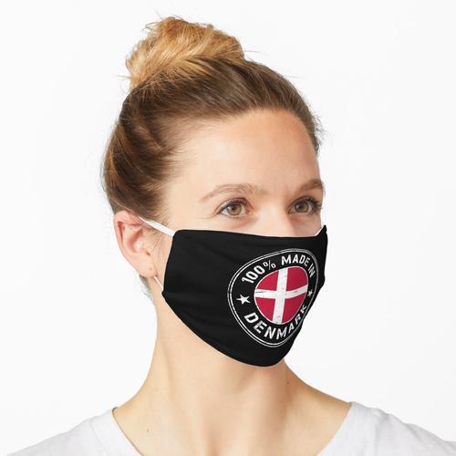 Dänemark dänisch Flagge Fahne Stempel Maske